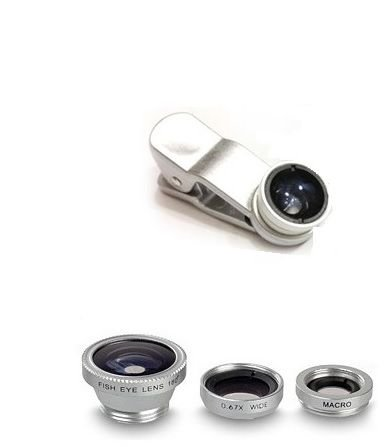 شراء White FishEye Lens 3 In 1 For Mobile Phone