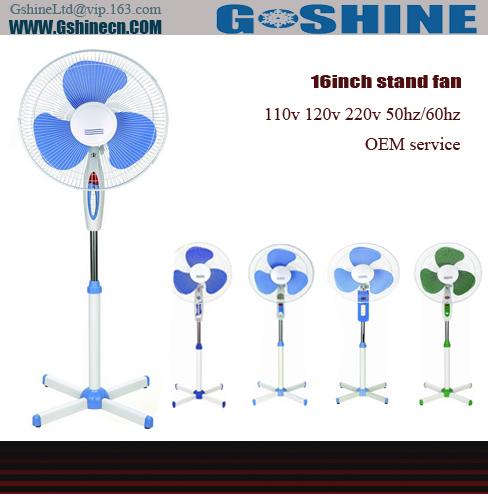شراء Gshine .Made in china 16inch electrical stand home used fan SF-16 series