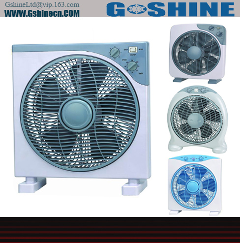 Gshine .Made in china 12 inch /16inch electrical box / desk plastic home used fan BF-12 series