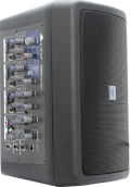 Channel Powered Mixer with Speakers, DSP