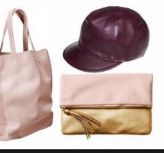 قبعات وشنط جلدية