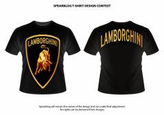 Cotton black Lamborghini t-shirt