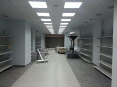 Demonstration shelves