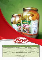الخضروات المعلبة والمخلل من هايا فودز