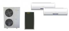 Dual Head Hybrid Thermal Air Conditioner Split 28000 BTU x 2