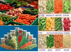 All food items - all agricultural crops - Pickles - slurries