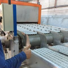 Corrugated cardboard punching