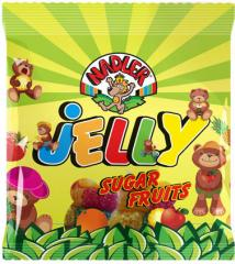 Jelly Nadler with Fruits Flavors coated sugar