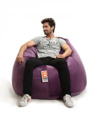 Bomba Pumpy Velvet Bean Bag,