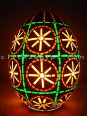 Colored Glass Egg Mosaic Table/Pendant Lamp