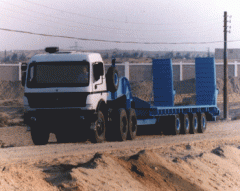 Half-trailers of platform lowframe