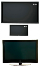 Plasma electronics screens and signal panel for