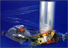 Stretch film for packing foodstuff