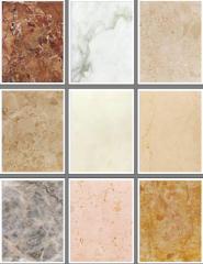 Marbelized limestone
