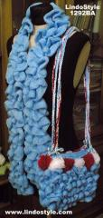 1292 Ruffled Scarve and Bag