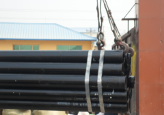 Black carbon steel seamless pipes