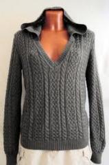 Knitted overcoat garment