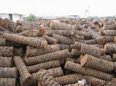 Crushed wood