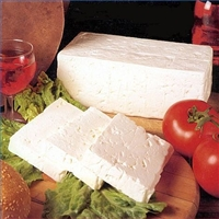 White cheese from goat's milk