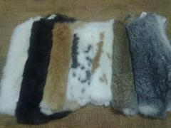 Rabbit fur skins