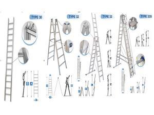 توجد لدى شركة ريد وينج مجموعة من انواع السلالم