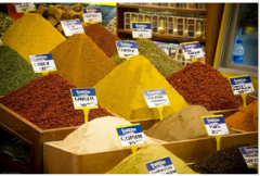 Salt with flavours for dressings and sauses