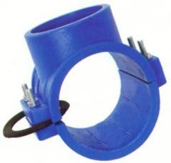 Clamp saddles available with metal socket (brass