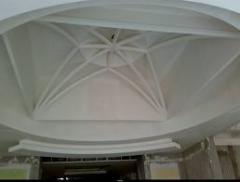 Ceilings, suspended plastic