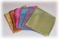 Fabrics knitted of synthetic fibers