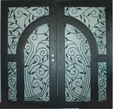 Grating steel doors