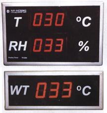 شاشات الحرارة والرطوبة
