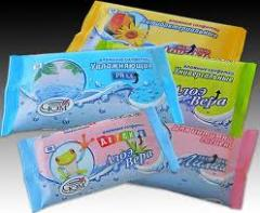Cosmetic face & body wipes