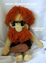1667TO - Cave Man Crochet Toy