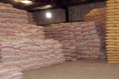 The equipment for storage of a grain