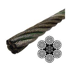 Steel wire rope 6x37+fc