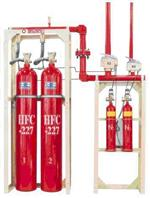 Automatic gas fire extinguishing