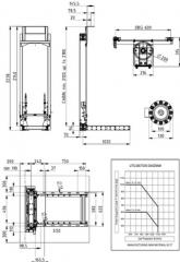 Elevators, mast, freight-passenger