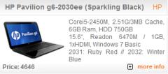 HP Pavilion g6-2030ee (Sparkling Black)