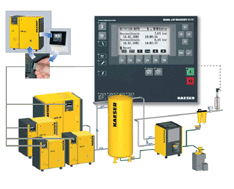 Pressure controllers, for compressors