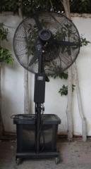 Fan with fog system