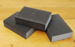 Four-sided sponges for woodworking