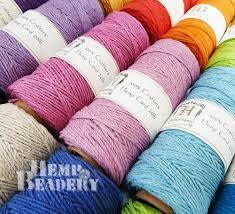 Colored Hemp Twine