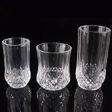 Cups, glasses, goblets with gold