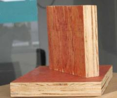 Red commercial plywood