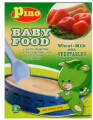 القمح مع الحليب والخضروات