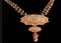 Accessories for dining with gold ornaments