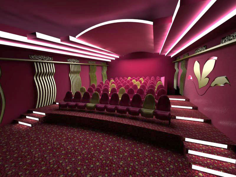 طلب التصميم الداخلى لقاعات السينما