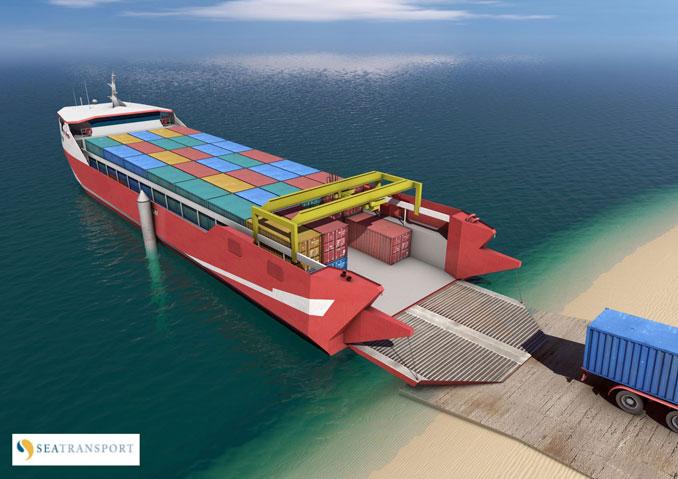 طلب نقل الشحنات بالنقل البحري