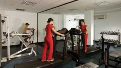 Fitness center in hotel