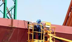 Erection of the steel bridges